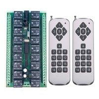 스마트 홈 컨트롤 1000m 장거리 DC 12V 24V 18CH 라디오 컨트롤러 RF 무선 원격 스위치 시스템 송신기 + 수신기 315/433 MHz