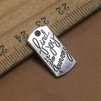 Fashion Trendy Trova gioia nel viaggio Lega Lega Charms Singolo Messaggio laterale Charms 10 * 20mm 100pcs 628 T2