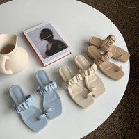 النعال Yuxiang النساء الصيف صندل عالية الكعب مربع الوجه بالتخبط السيدات النعال أنيقة الشرائح الأحذية 1