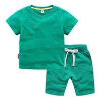 Conjuntos de ropa Olekid 2021 Niños de verano Conjunto de algodón camisetas y pantalones cortos Ropa de niños 1-12 años Niños Adolescentes Traje