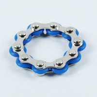 10 Knots Bike Chain Toy Key Ring Fidget Spinner Gyro Hand Metal Finger Keyring Bracelet Toys Reduce Decompression Anxiety Anti Stress For Adult Student
