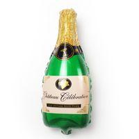 Doğum Günü Düğün Bebek Duş Parti Dekor Malzemeleri Şampanya Bira Şişesi Balonlar Alüminyum Folyo Balon Helyum Balonlar Parti Balon 805 X2