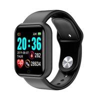 2021 Y68 SmartWatch Homens Mulheres Pressão Sanguínea Fitness Tracker Pulseira Smart Clock D20 À Prova D 'Água Esporte Bluetooth Watchs Android iOS