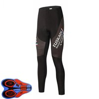 Höst 2021 Mens Euskadi Team Cyklingbyxor Snabb Torka Cykeltights Sportkläder Gel Padded Long Pant Bike Wear Riding Trousers Y21033116