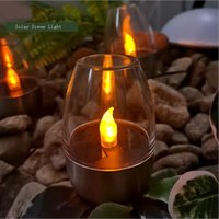 Solar Lamps Led Light Outdoors Wine Glass Style Lights Christmas Fairy Garden Courtyard Decoration Warm