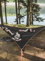 Tents y refugios Hamaca Camping Camping Silla Colgante Nylon Equipo al aire libre Cojín de aire triangular para MULTI-PERSONA