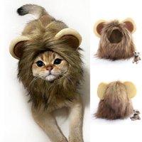 Cat Costumes Wig Hair Headgear Funny Helmet Hat Decoration Dog Costume Emulation Lion Mane Head Cap Autumn Winter Scarf Pet Accessories