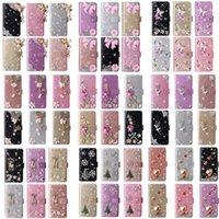 Glitter Bling Diamond Cuir Portefeuille Coffrets de fleur Coeur Cœur Ange Ange Papillon pour iPhone 13 12 Mini 11 PRO Max XR XS X 8 Plus Samsung S20 S21 Ultra A02 A12 A22 A32 A52 A72