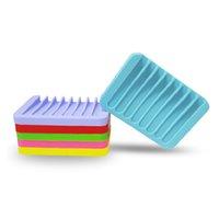 Anti-Mekanik Geliştirme Silikon Sabun Yemekleri Esnek Banyo Armatürleri Donanım Tepsi Soapbox Sabunlar Çanak Plakası Tutucu LLE6865