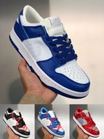 Supreme x Nk SB Dunk Low joint casual sports skateboard shoes OFF-WHITE x Nike Dunk Low x FL tripartite joint Dancing Bear