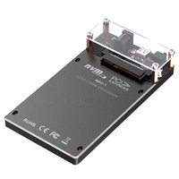 Smart Power Plugs U.2 PCI-E SSD To Type-C Adapter 10Gbps NVME Enclosure HDD Hard Drive Disk Box Connector Reader For Windows Linux