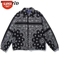 Lenstid mens desgaste hip hop bandana paisley padrão Bomber jackets windbreaker harajuku streetwear 2020 outono casual casacos tops # pt5c