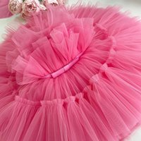 Girl's Dresses Born Baby Girl Dress1 Year 1st Birthday Party Baptism Pink Clothes 9 12 Months Toddler Fluffy Outfits Vestido Bebes