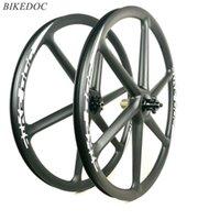 عجلات الدراجة Bikedoc كامل الكربون 30MM العرض عمق 26er MTB 6 عجلة