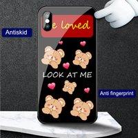 Cases Cute bear Cartoon love heart women Phone case for OPPO A95 A32 A72 A83 A53 A57 A77 A73 A79 A92s A52 Find X2 Reno 5 6 R17 F11 K9 K7 tempered glass shockproof