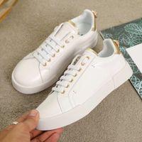 Moda Erkek Kadın Marka Tasarımcısı Ayakkabı Hakiki Deri Portofino Sneakers Kauçuk Taban Rahat Marka Ayakkabı Tasarımcı Boyutu 35-46