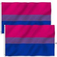 3 * 5ft rainbow العلم الطباعة الأعلام المخنثين البوليستر مع النحاس الحلقات عطلة DHA6173