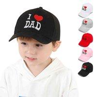 Niños de verano Ok, amo a papá mamá bordado letras de bordado imprimido ajuste gorras al aire libre muchachas niñas sol sombrero visera niños béisbol gorras g41pcof