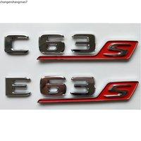 Lettres chromées C63S E63S S Emblèmes de coffre E63 Badges C63 E63 S Emblème pour Mercedes Benz AMG