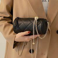 Diamond Chain Lattice Lady Round Black Women Leather Bag Designer Quality Bags Crossbody High Quilted Iknsw Shoulder Luxury Bucket Jfgae