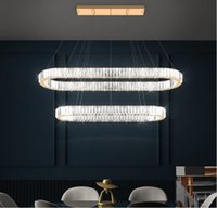 Modern K9 Crystal Decorative Led Ceiling Lamps Chandeliers Fixtures Deco Chambre Hanging Light for Bedroom Pendant Lights Simpl