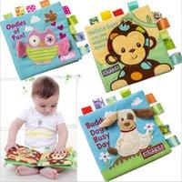 Стиль животных обезьяна / сова / собака новорожденные игрушки детские Игрушки обучающие детские ткань книги милые младенческие детские ткани книга ротаки игрушка 1262 y2