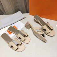 Mulheres Designer Slipper Oran Sandal Slides Senhoras Genuíno Calfskin Sapatos Moda Ao Ar Livre Outdoor Black Summer Flats Top Quality com Box 278