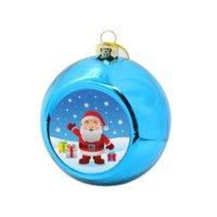 8 cm Sublimationsrohling Weihnachtskugel Dekorationen für Tintenübertragung Druck Wärmepresse DIY Geschenke Handwerk Weihnachtsbaum Ornament 496