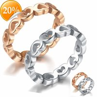New stainless steel lovers ring fashion peach heart rose gold men and women titanium pair