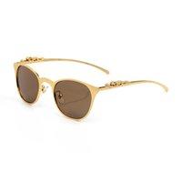 빈티지 선글라스 부드러운 골든 - 마감 Eyeglass 럭셔리 패션 전체 프레임 골든 실버 그레이 브라운 브랜드 안경 프레임 남성 여성 안경 액세서리