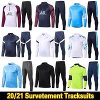 2020 2021 Real Madrid Men Футбольные костюмы для футбола 20 21 Marseille Paris MBappe Surrey Supper Touchsuit Mailoots de Foot Chandal Kit Top