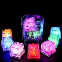 LED Ice Cubes Bar Fast Slow Flash Auto Changing Crystal Cube Water-Actived Light-up For Romantic Creative Party Wedding Xmas Gifts C651