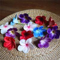 Dekorative blumen kränzen 20 plumeria kuchen toppers echte touch blume blüte hochzeit dekorationen blumensträuße mittelstücke künstlich
