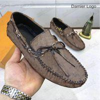 Hockenheim Mocassin Mens 디자이너 애리조나 로퍼 신발 클래식 이탈리아 Luxurys 비즈니스 드레스 로퍼 가죽 체크 무늬 인쇄 망 캐주얼 드라이버 신발