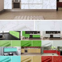 5M 10M Waterproof Oil-proof Wallpaper Contact Paper Wall Stickers PVC Self Adhesive Bathroom Kitchen Countertop Renovation Film A0603
