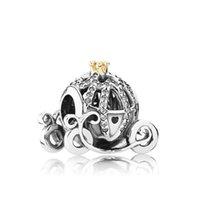 Abbigliamento in argento sterling 925 Charms per Pandora Vintage auto perline perline Bracciale gioielli Braccialetto FAI DA TE