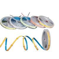 DC 12V / 24V COB LED cadenas Fichas de alta densidad flexibles de 8 mm Ancho 3000K Luces blancas (luz cálida 3000k, 320 LEDSM) para dormitorio, escenario, hogar, gabinete, cocina Crestech