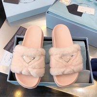 Diseñadores de lujos para mujer Señoras Lanas Zapatillas Diapositivas Piel de invierno Mullido peludo Sandalias Zapatillas Cálidas Cómodas Fuzzy Girl Flip Flob Tamaño 35-40