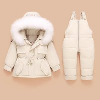 Down Coat Children Jacket+jumpsuit Kids Toddler Girl Boy Clothes 2pcs Winter Outfit Suit Warm Baby Overalls Clothing Sets