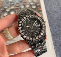 Роскошный супер хороший президент День Дата Часы 42 мм Алмазы Безэль Мужская Reloj Большой Горный Хрусталь Наручные часы