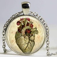 Heart Steampunk Jewelry Necklace Anatomy Bag Pendant Christmas Gift For Women Men Necklaces
