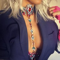 Girlgo Bohemian Jewelry Maxi Vacation Dress Sexy Chain Necklace For Women Statement Jewelry New Fashion Maxi Chain Necklace Hot