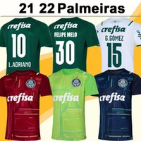 21 22 Palmeiras Mens Futbol Formaları G. Gomez L. Adriano Ramirez B. Henrique Willian Eve Uzakta Kaleci Futbol Gömlek Kısa Kollu Üniforma