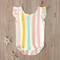 Clothing Sets Baby & Children's 1-5Years Toddler Infant Girl Kids Stripe Bikini Swimwear Swimsuit Bathing Beachwear