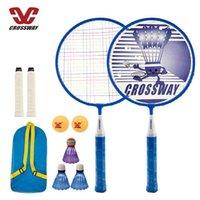 Niños Bádminton Raqueta Set 2 piezas para niños Profesionales Jugadores principiantes Super Livianos Raquetas Patio trasero Game Crossway Sports