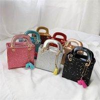 Girls Handbags Kids Bags Childrens Accessories Children Princess One Shoulder Messenger Bag Sequin Mini Handbag Purses B7221