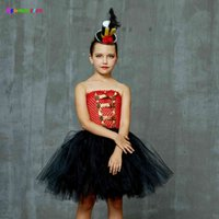 Girls Ringmaster Costume Circus Schiaccianoci Fancy Tutu Dress Bambini Tulle Compleanno Party Dress Girl Halloween Dress Up Vestiti T200624