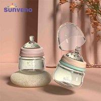Sunen Baby Berry Born Leite Enfermagem Anti-Choke Design - Vidro, BPA Grátis, 80ml, 2,5 oz, 0-3 Meses 210727
