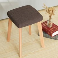 Chair Covers Square Stool Dining Room Household Elastic Seat Cover Protector Living Home Decor Fundas Para Sillas