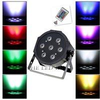 Effects Wireless Remote LEDLight RGBW 7x12W Disco Wash Light Equipment 8 Channels DMX 512 LED Uplights Stage Lighting Effect